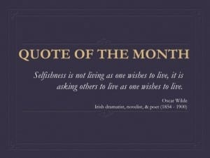 October Quote of the Month