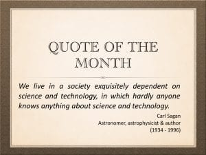 Quote of the Month Carl Sagan